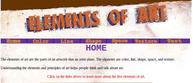 elements of art website