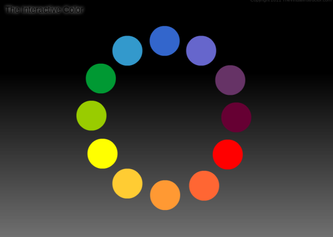 Interactive Color Wheel