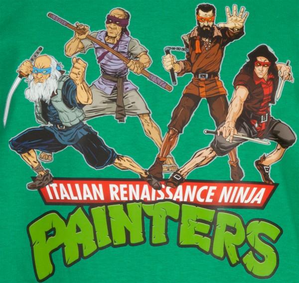 Italian-Renaissance-Ninja-Painters-Leonardo, Michelangelo, Donatello and Raphael