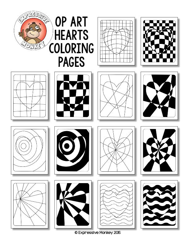 vasarely coloring pages - photo#26