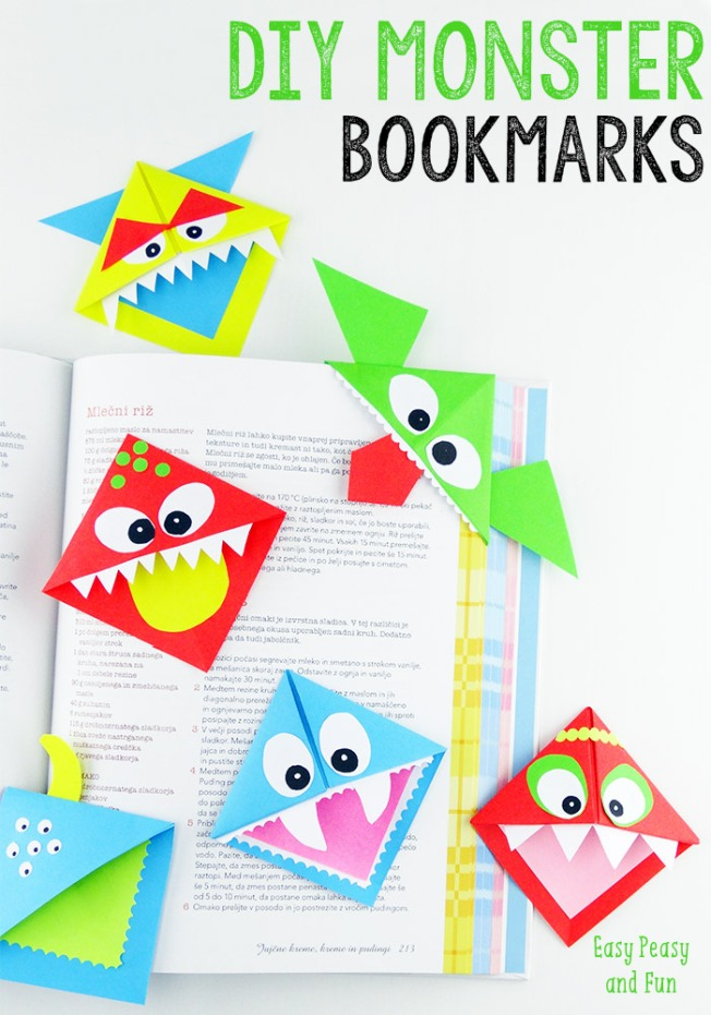 DIY-Corner-Bookmarks-Cute-Monsters