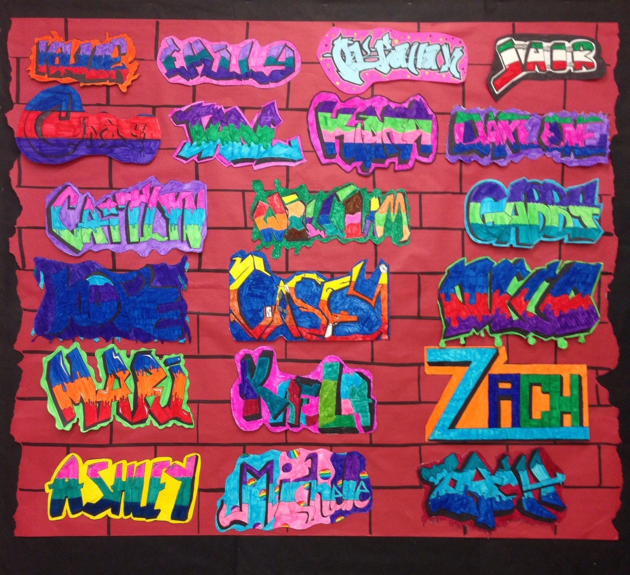 Published february 22 2019 at 2047 x 1870 in grade 4 graffiti name art