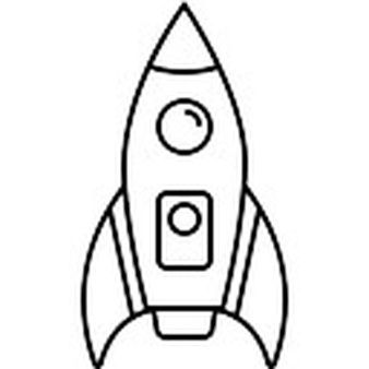 Simple Rocket Ship Clipart Black And White new transport icons 3 200 files in png eps svg format